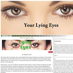 How to tell if someone is telling a lie or lying: Viewzone - StumbleUpon
