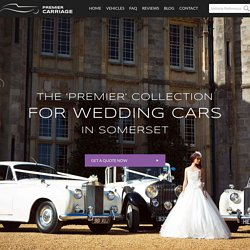 Hire Wedding Transport in Somerset From Premier Carriage