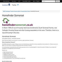 South Somerset District Council - Homefinder Somerset