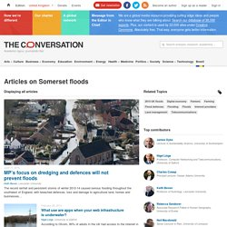 Somerset floods – News, Research and Analysis – The Conversation – page 1