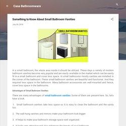 Best Solution For Small Bathroom Vanities