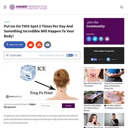 Put Ice On THIS Spot 2 Times Per Day And Something Incredible Will Happen To Your Body!