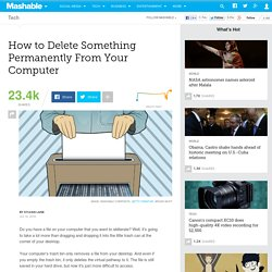 How to Delete Something Permanently From Your Computer