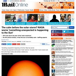 NASA warns 'something unexpected is happening to the Sun' in year that is supposed to be the peak the sunspot cycle