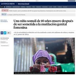 Una niña somalí de 10 años muere después de ser sometida a la mutilación genital femenina