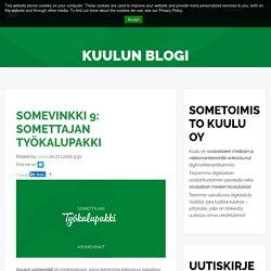Somevinkki 9: Somettajan työkalupakki