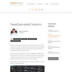 TweetDeck edellä Twitteriin