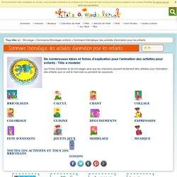 Sommaire des activités d'animation pour les enfants