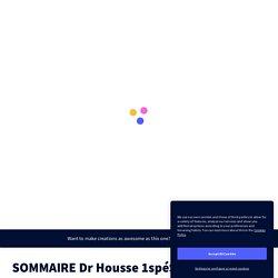 SOMMAIRE Dr Housse 1spéSVT