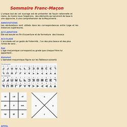 Sommaire Franc-Maçon