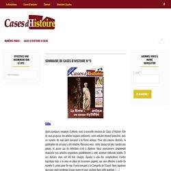 Sommaire de Cases d'Histoire n°5