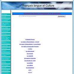 Sommaire des fiches d'orthographe et de grammaire