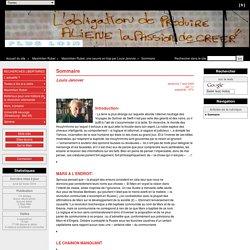 Sommaire - Plusloin, le site