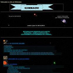 Sommaire du Système Solaire
