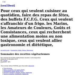 Sommaire des recettes végétariennes - [venTDest]