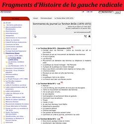 Sommaires du journal Le Torchon Brûle (1970-1973) - Fragments d'Histoire de la gauche radicale