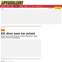 Göran Sommardal försvarar Svenska Akademien