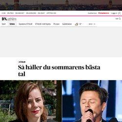 Så håller du sommarens bästa tal – Moa Berglöf och Fredrik Wikingsson tipsar