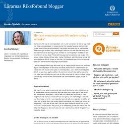 Hur kan sommarpratare bli undervisning i svenska? - Annika Sjödahl