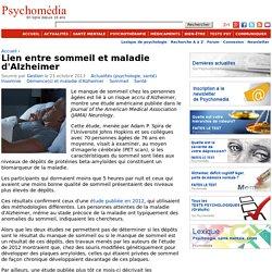 Lien entre sommeil et maladie d'Alzheimer