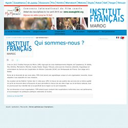 Qui sommes-nous ? - Institut Français Maroc
