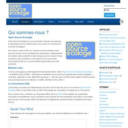 Open Source Ecologie