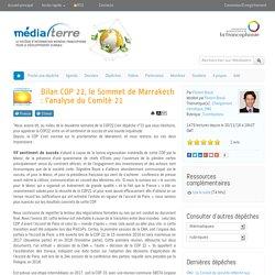 Bilan COP 22, le Sommet de Marrakech : l'analyse du Comité 21