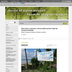 Plus haut «sommet» de la moitié sud de l'atoll de Tarawa à Kiribati