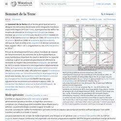 Un sommet de la Terre tous les 10 ans