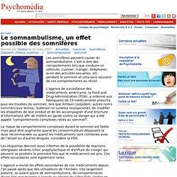 Le somnambulisme, un effet possible des somnifères