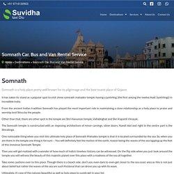 Somnath Car, Bus and Van Rental Service - Suvidha Taxi Diu