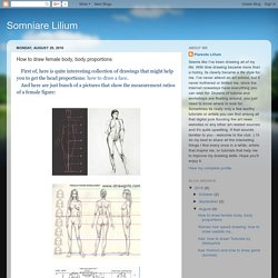 How to draw female body, body proportions
