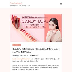 Son Kem Nhung Lì Candy Love Đang Hot Trên Thị Trường