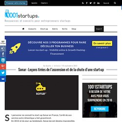 Sonar: la mort d'une start-up après avoir levé 2 millions de dollars