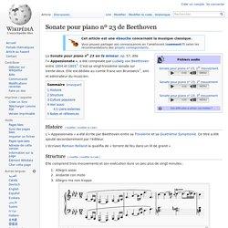Sonate pour piano nº 23 de Beethoven