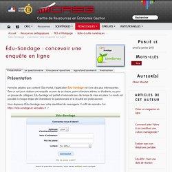Édu-Sondage : concevoir une enquête en ligne