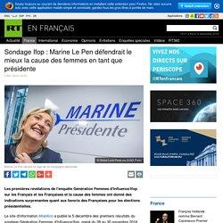 Sondage Ifop : Marine Le Pen défendrait le mieux la cause des femmes en tant que présidente