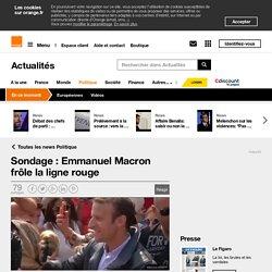 Sondage : Emmanuel Macron frôle la ligne rouge
