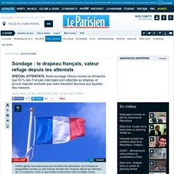 Sondage : le drapeau français, valeur refuge depuis les attentats