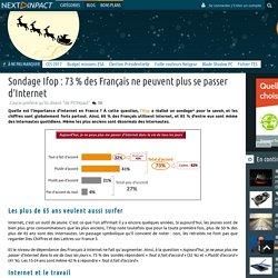 Sondage Ifop : 73 % des Français ne peuvent plus se passer d'Internet