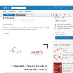 Sondage IFOP Synopia Primaire