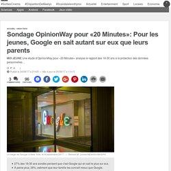 Sondage OpinionWay pour «20 Minutes»: Pour les jeunes, Google en sait autant sur eux que leurs parents