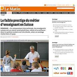 Sondage: Le faible prestige du métier d'enseignant en Suisse