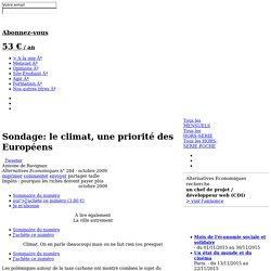 Sondage: le climat, une priorité des Européens