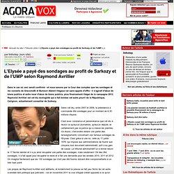 L'Elysée a payé des sondages au profit de Sarkozy et de l'UMP selon Raymond Avrillier