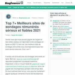 Top 7+ Sites de Sondages Rémunérés Sérieux 2021