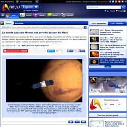 La sonde spatiale Maven est arrivée autour de Mars