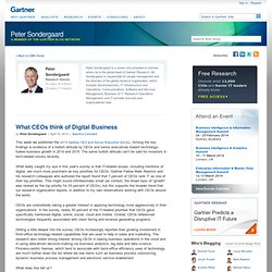 Peter Sondergaard — A Member of the Gartner Blog Network