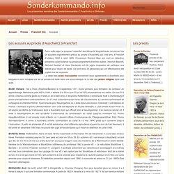 Sonderkommando - Accusés