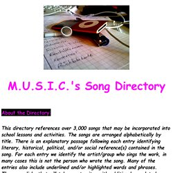 Song Directory